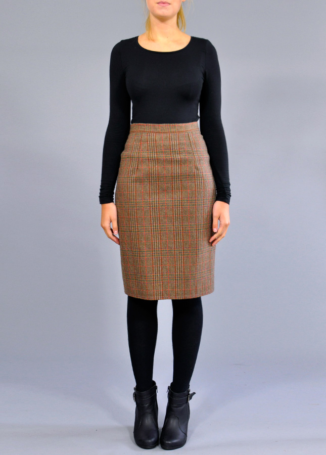 Vintage Tweed Tartan Pencil Skirt Skirts And Suits Norfolk Online Clothing