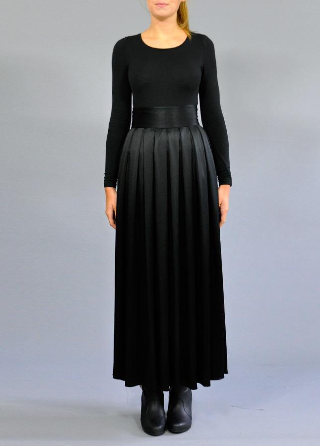 black silk vintage maxi skirt vintage evening skirt