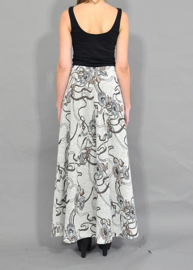 Vintage Maxi Skirt | A Line Vintage Skirt | Floral Maxi Skirt ...