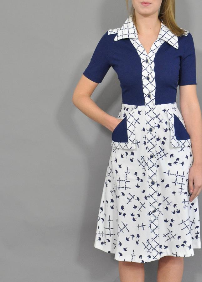Vintage Sailor Dress | Vintage Shirt Dress | Vintage ...