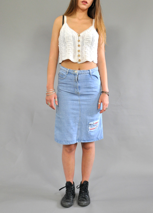 Vintage Denim Skirt | Vintage Skirts and Dresses | Denim Pencil ...