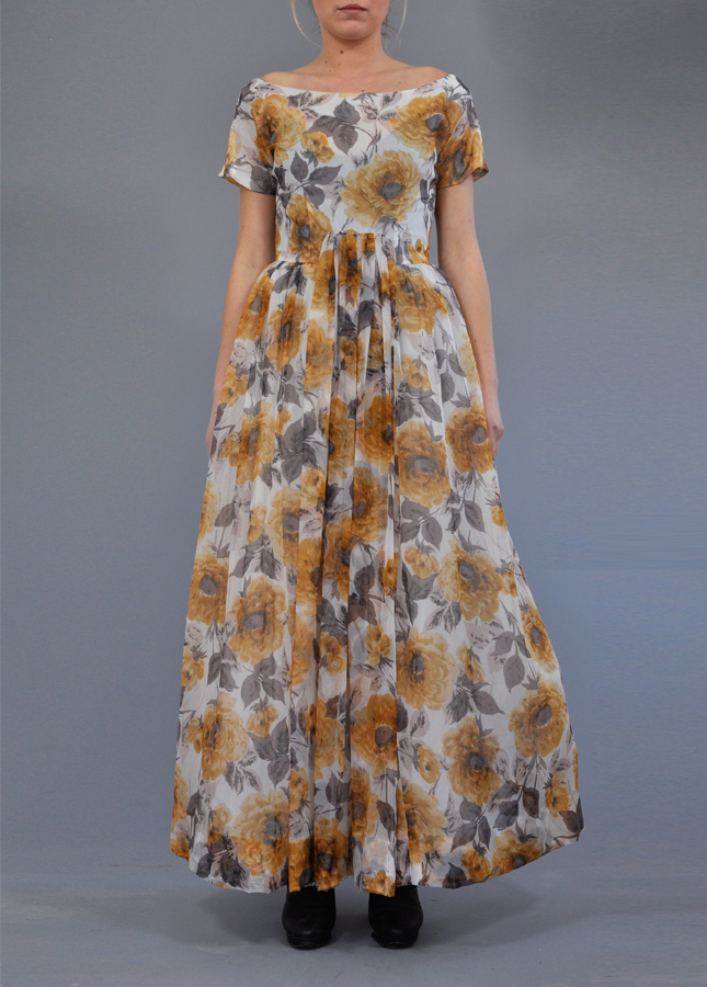 1950s Liberty Floral Ball Dress. Vintage Clothing Online. Couture. Vintage Deli. Norfolk