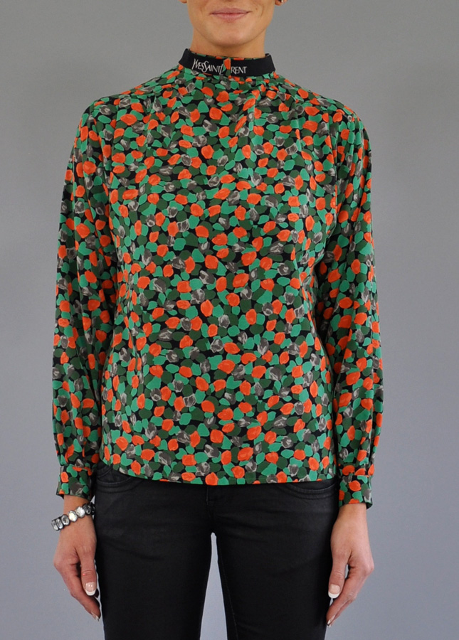 Vintage Yves Saint Laurent Blouse Norfolk, Vintage Shirts, Designer Vintage Clothing, Norfolk, Stylist, Katy Coe