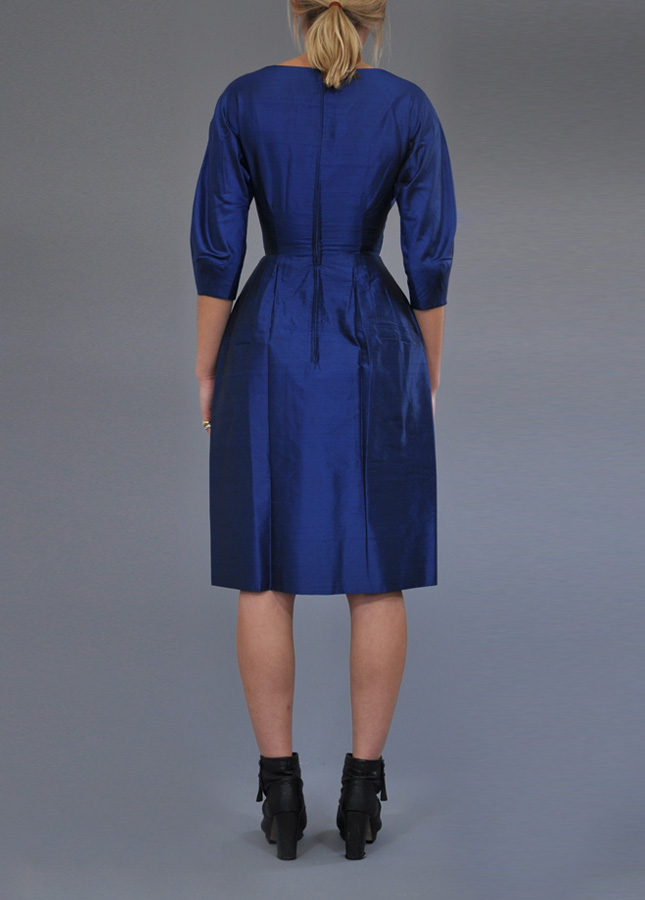 1940s Navy Silk Evening Dress. Vintage Clothing Online. Vintage Deli. Norfolk